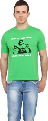 Filmwear Graphic Print Men's Round Neck Green T-Shirt
