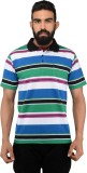 NeoGarments Striped Men's Polo Neck Mult...