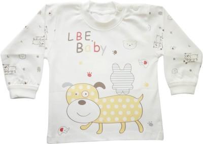 Upside Down Animal Print Baby Boy,s, Baby Girl's Round Neck White T-Shirt