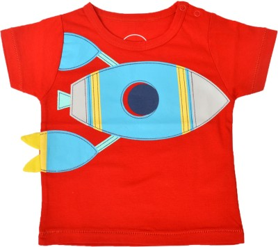 PEPITO Embellished Baby Boy,s, Baby Girl's Round Neck Red T-Shirt