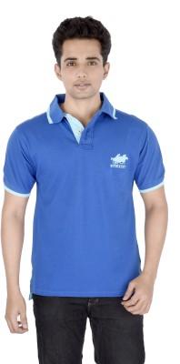 Buzkachi Solid Men's Flap Collar Neck T-Shirt