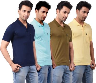 NG Tees Solid Men's Polo Multicolor T-Shirt