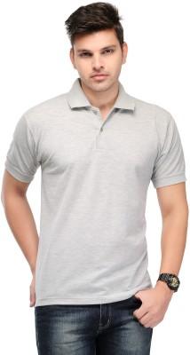 Kiosha Solid Men's Polo Grey T-Shirt
