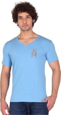Anger Beast Printed Men's V-neck Light Blue T-Shirt
