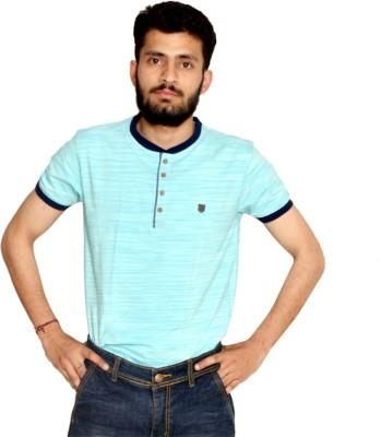 allrugget Printed Boy's Round Neck Light Green, Dark Blue T-Shirt