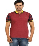TT Solid Men's Round Neck Maroon T-Shirt