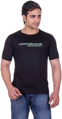 Martin Smith Printed Men's Round Neck Black T-Shirt