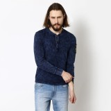 Henry and Smith Solid Men's Henley Dark ...