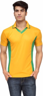Rico Sordi Solid Men's Polo Neck Yellow T-Shirt