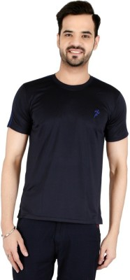 Awack Solid Men's Round Neck Grey T-Shirt