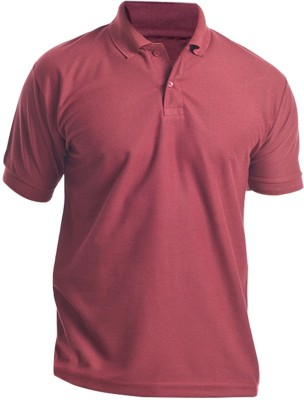 Silver Swan Solid Men's Polo Maroon T-Shirt