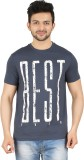 Cipria Printed Men's Round Neck Blue T-S...