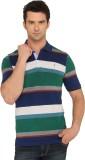 Donear NXG Striped Men's Polo Neck Green...