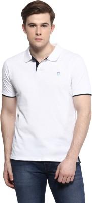 Ziera Solid Men's Polo Neck White T-Shirt