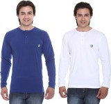 Cee-For Solid Men's Henley Blue, White T...