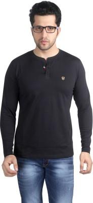 Nostrum Jeans Solid Men's Round Neck Black T-Shirt