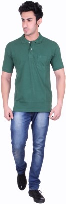 Seaboard Solid Men,s Polo Neck T-Shirt
