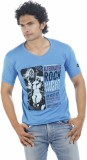 Shapers Printed Men's V-neck Light Blue ...