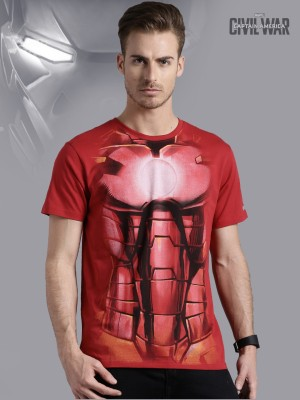 Kook N Keech Marvel Graphic Print Men's Round Neck Red T-Shirt