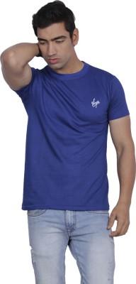 B2 Solid Men's Round Neck Blue T-Shirt
