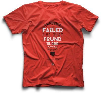 Thinkpop Printed Men's Round Neck Red, White T-Shirt