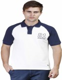 Righardi Solid Men's Polo Neck Blue T-Sh...