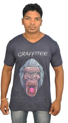 Graffitee Printed Men's V-neck T-Shirt