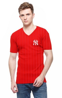 Cool Club Solid Men's V-neck Red T-Shirt