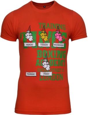 Avenster Graphic Print Men's Round Neck Red T-Shirt