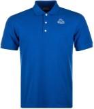 Kappa Solid Men's Polo Neck Blue T-Shirt