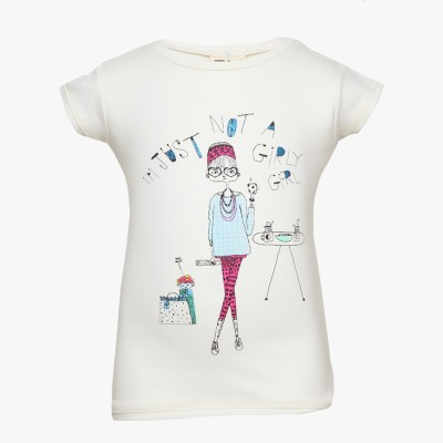 Tales & Stories Graphic Print Girl's Round Neck T-Shirt
