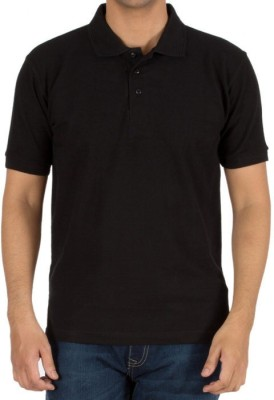 Basile Solid Men's Polo Black T-Shirt