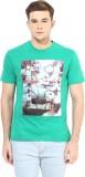 Cayman Printed Men's Round Neck Green T-...