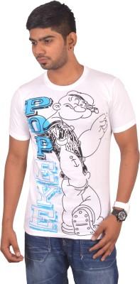Rogue Printed Men's Round Neck White T-Shirt