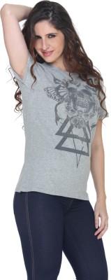Fast n Fashion Graphic Print Women's Round Neck Grey T-Shirt