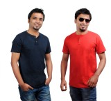 Brand Teez Solid Men's Henley Blue, Red ...