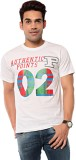 Ebry Printed Men's Round Neck White T-Sh...