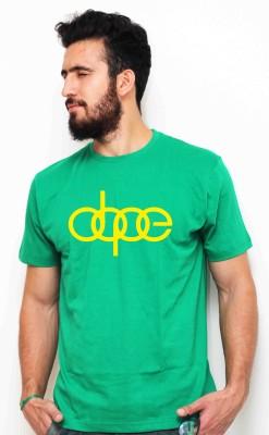Sukhiaatma Graphic Print Men's Round Neck Green T-Shirt