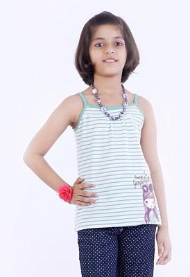 Milou Graphic Print Girl's Fashion Neck T-Shirt