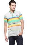 Fasnoya Striped Men's Polo Neck White T-...