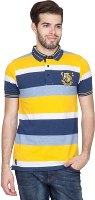 Fort Collins Striped Men's Polo Neck Multicolor T-Shirt