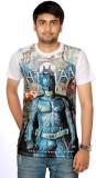 Aaduki Graphic Print Men's Round Neck Wh...