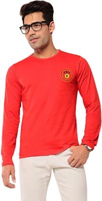 Ebry Solid Men's Round Neck Red T-Shirt