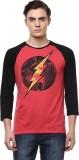DC Comic Printed Men's Round Neck Red, B...