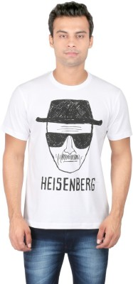 Redwolf Graphic Print Men's Round Neck White T-Shirt