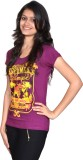 Gee & Bee Printed Women's Round Neck Pur...