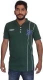 Uniqe Solid Men's Henley Green T-Shirt