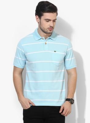 UV&W Striped Men's Polo Neck Grey T-Shirt
