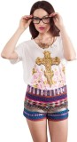 All About Eve Printed Women's Round Neck...