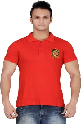 Stephen Armor Embroidered Men's Polo Red T-Shirt
